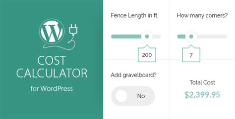 [Download] Cost Calculator For WordPress Nulled