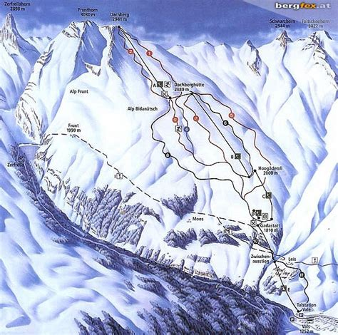 Vals Piste Map / Trail Map