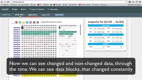 Using HEX editor with automotive dashboard dump - YouTube