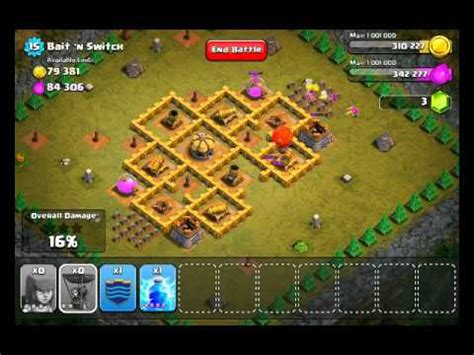 Clash of Clans Level 39 - Bait 'n Switch - YouTube