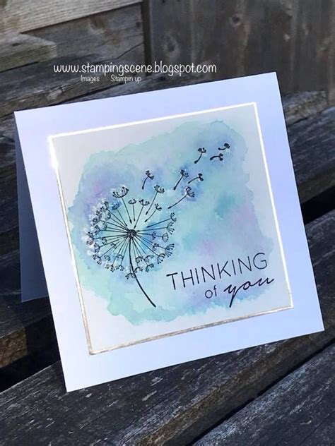 Dandelion Wishes | stamp in stazon, then stamp just the