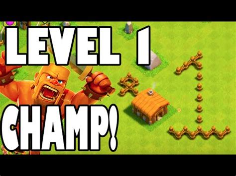 """Clash of Clans - """"LEVEL 1 BARB CHAMPION!"""" 100 TROPHIES IN"""
