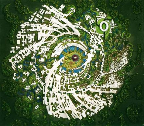 The Galaxy concept of the city | Auroville