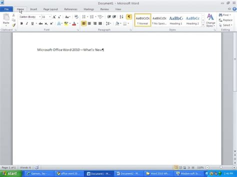 Microsoft Word 2010 Review -- What's New in Word 2010