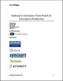 Attunity Hadoop in Transition From Proof of Concept to