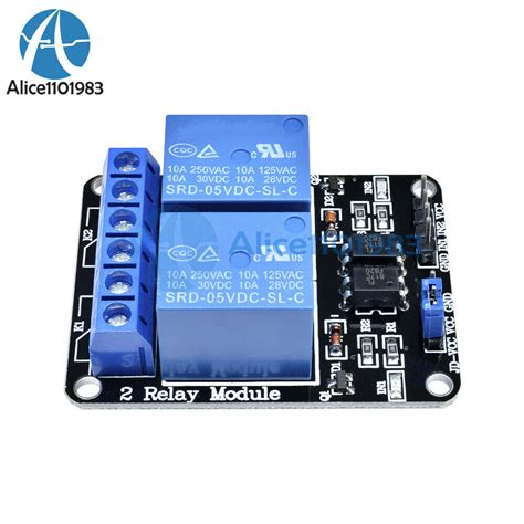 5V Two 2 Channel Relay Module With optocoupler For PIC AVR
