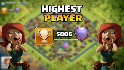 CLASH OF CLANS FIRST PLAYER AT 5000 TROPHIES LEGENDS