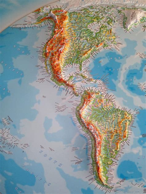 3D raised relief map of the World - £210