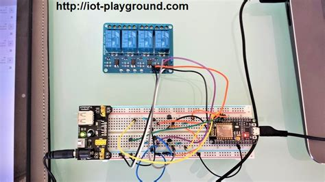 ESP8266 internet connected 4 relay switch