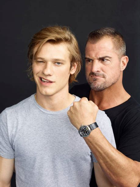 """Lucas Till & George Eads Visit """"Extra"""" Photos and Images"""