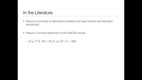 Repeated Measures ANOVA - Effect Size and Post-Hoc - YouTube
