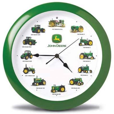 New john deere tractor wall clock with real sounds