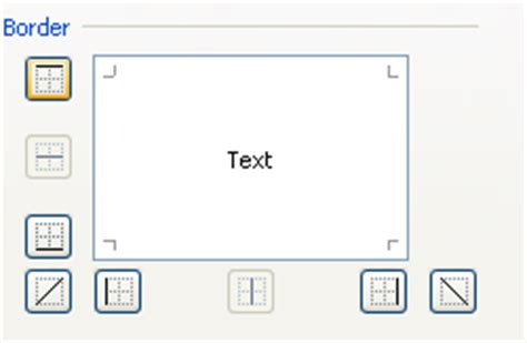 Apply a Border Using the Format Cells Dialog Box : Cell