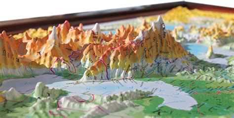 3D raised relief map of Europe - £210