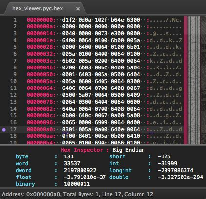 Hex Viewer (a hex viewer and editor) - Plugin